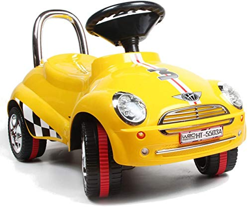 Best For Kids Top-Rutscher - Trineo de coche con electrónica Porsche para coche, color amarillo