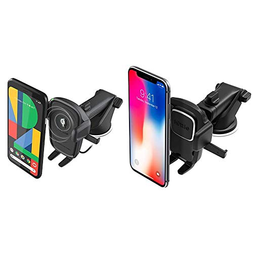 iOttie Wireless Car Charger Easy One Touch Wireless 2 Qi Charging Dashboard Phone Mount & Easy One Touch 4 Dash & Windshield Car Mount Phone Holder Desk Stand Pad & Mat
