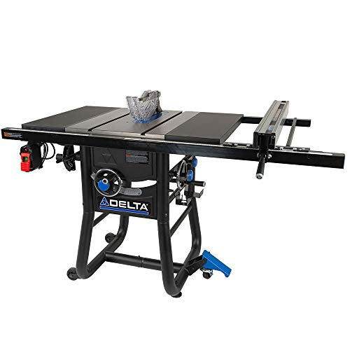 Delta 36-725T2 Contractor Table Saw with 30  Rip Capacity and Steel Extension Wing