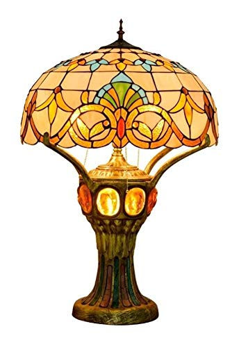Barroca del estilo de Tiffany escritorio de la forma de la lámpara de cristal Pantalla Tabla iluminación del árbol Casa Grande turística luz decorativa for el frente interior del vestíbulo