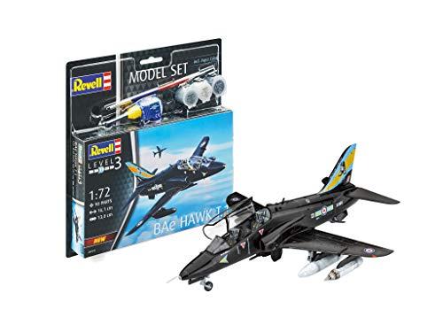 Revell Model Set - 64970 - Maqueta de avión - Bae Hawk T.1 - con accesorios - Escala 1/72 - Nivel 3/5