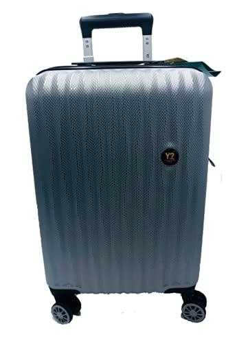 Trolley cabin bagaglio a mano ynot Y not? ARR 16001 Grigio Chiaro Silver rigido 4 ruote policarbonato