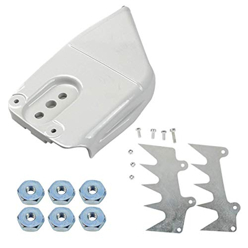 Euros 1125 640 1701 Clutch Side Sprocket Cover + 1122 664 0503 Bumper Spike Set + Sprocket Cover Bar Nut Fit for Stihl 044 046 064 066 MS440 MS460 MS650 MS660 Chainsaws