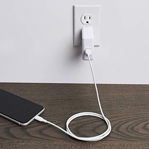 Amazon Basics – Verbindungskabel Lightning auf USB-A, MFi-zertifiziertes Ladekabel für iPhone, weiß, 91,2 cm, 5 Stück