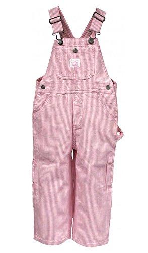 Key Industries - Kinder-Latzhose - Rosa Streifen Kinder Latzhosen Jeans Latzhose KID008-Age 7