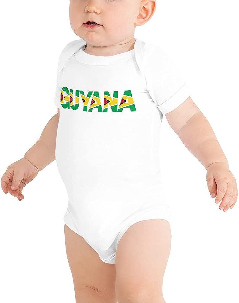 Guyanese Swag Popular overseas Guyana Baby Onesie Max 56% OFF Short Sleeve White