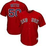 Mookie Betts Boston Red Sox MLB Boys Youth 8-20 Player Jersey (Red Alternate, Youth Large 14-16)