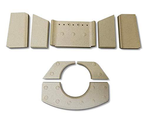Feuerraumauskleidung für HWAM Figaro Kaminöfen - Vermiculite - 8-teilig