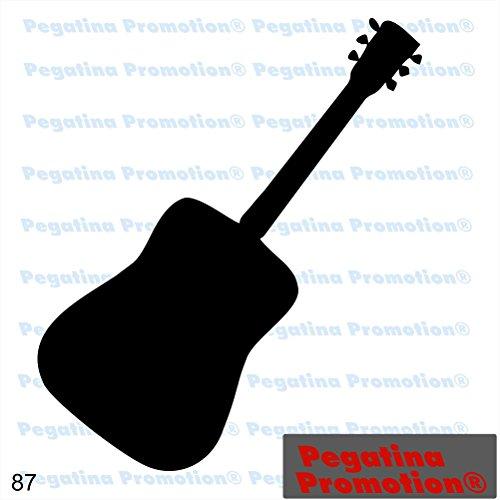 Piktogramm Typ 87 Icon Symbol Zeichen Gitarre Guitar Musik Band Aufkleber Sticker ca.15cm von Pegatina Promotion® Aufkleber mit Verklebehilfe von Pegatina Promotion® ohne Hintergrund geplottet
