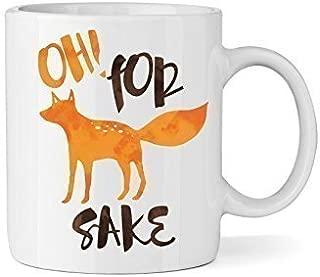 Oh! For Fox Sake Ceramic Coffee Mug - Funny Coffee Mug - Fox & Clover Original