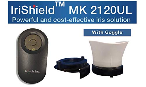 Iritech Inc MK2120UL Cost Effective Iris Scanner (Black) with Goggle, USB, OTG Cable & Pouch