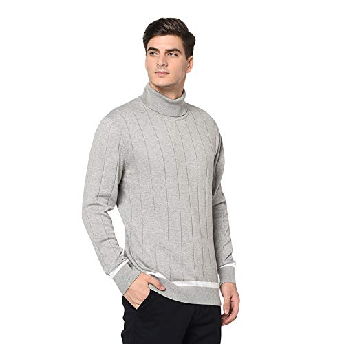 Armisto Men's Turtle Neck Plain Sweater/Black Colour/for Winters
