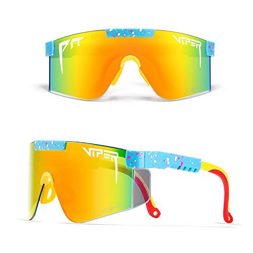 Gafas De Sol Pit Viper Gafas De Ciclismo para Deportes Al Aire Libre Pit Viper Lente Z87 Gafas A Prueba De Viento Protección UV para Mujeres Y Hombres,C54