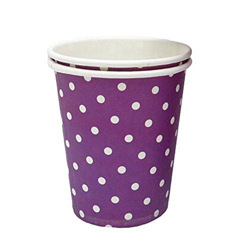 Alien Storehouse 8.25 Unzen Kaffee Pappbecher Einweg-Pappbecher 50 Count-weiße Punkte, Lila