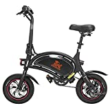 Bicicleta eléctrica Dantenai Kugo Kirin B1 Pro para adultos, motor de 250 W, velocidad máxima de 25 km/h, hasta 40 km, control inteligente por aplicación