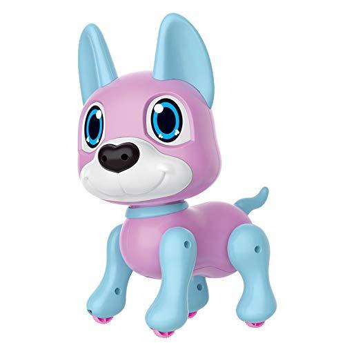 Roboter Hund Geste Induktion Roboterhund Spaziergang Folgen Simulation Cartoon Baby Haustier Elektronisches intelligentes Hundetierspielzeug mit Gestenerkennung für Jungen- und Mädchengeschenk