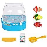 HONGEYO Piscina robótica para nadar con acuario, juguete de pesca para niños, juguete magnético de pesca para niños, juego de juguetes para niños para bath Time Pool Party con pole Rod Net