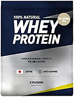 エクスプロージョン ホエイプロテイン 3kg 約100食分 杏仁豆腐味 大容量 国内製造
