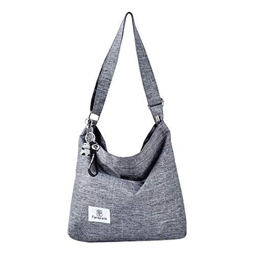 Fanspack. Borsa a tracolla per borsa a tracolla con tracolla a mano in tela casual retrò da donna