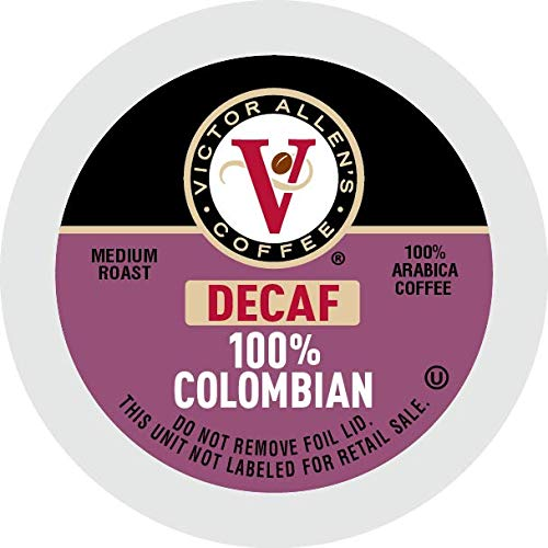 Victor Allen's coffee Decaf 100% Colombian, Medium Roast, 80Count Single Serve Coffee Pods for Keurig K Cup Brewers, Decaf 100% Colombian, 80Count