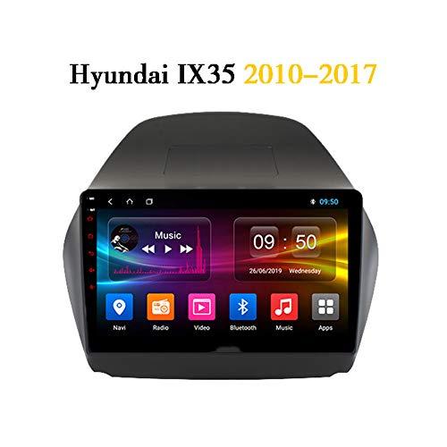 Android 9.0 4 Core-Car-Audio-Stereo-Kopfeinheit für Hyundai IX35 2010-2017 DVD-Player Radio 9-Zoll-HD-Touchscreen GPS-Navigation mit Bluetooth WiFi FM AM RDS HIFI AUX Lenkradsteuerung,Wifi 1G 16G