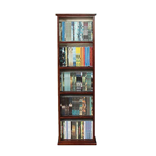 GWXJZ CD Storage Shelf DVD CD Rack Solid Wood Vinyl Record Storage Rack Landing DVD Disc Holder DVD Disc Storage Box Multifunctionele Plank CD kast L40*W21*H128.8cm