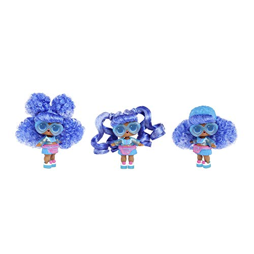 L.O.L. Surprise! Hairvibes Dolls with 15 Surprises and Mix & Match Hair Pieces, LLUB8, Multicolore