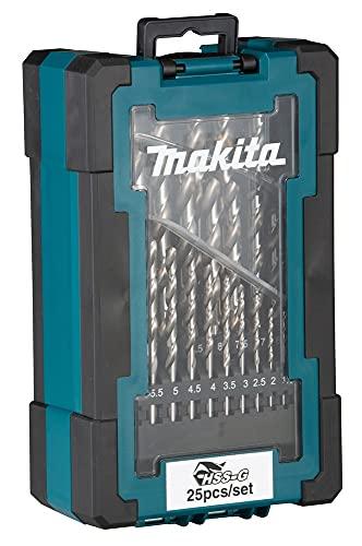 Makita D-67555 Bohrer TLG. Drill Bit Set HSS-G 25 Pieces