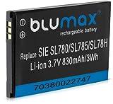 Batería Blumaxpara Siemens Gigaset (Ion de litio, 3,7V, 830mAh); SL78H, SL400, SL400A, SL400H, SL610H PRO, SL610 H Pro, SL780, SL785, SL788, X656, SL910, SL910H V30145 - K1310k - X444, V30145 - K1310 - X445, 4250366817255 y X069