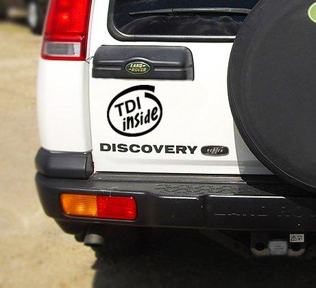 MR WHEEL TRIMS - Adesivo per auto con scritta 'TDI inside'