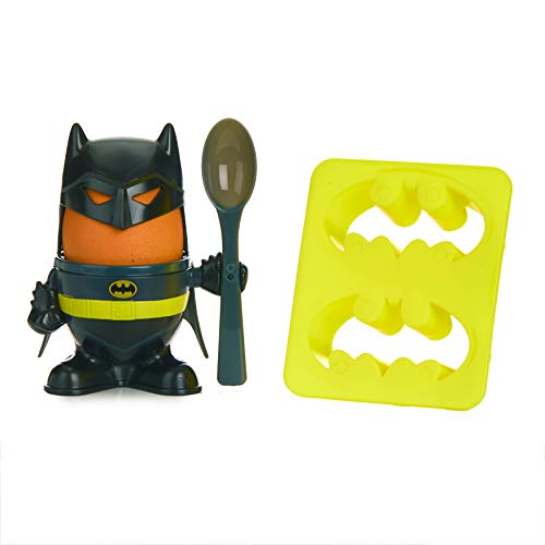 Paladone Z872725 Batman Frühstücksset mit Eierbecher, Topper, Löffel, Toastschneider, offizielles DC Comics Lizenzprodukt, Mehrfarbig, 6 x 20 x 14 cm