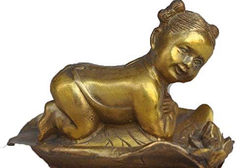 LXLH Figura de la Suerte, latón fengshui Chino de la Suerte Tallado...
