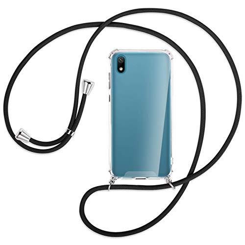 mtb more energy® Handykette kompatibel mit Huawei Y5 2019 (5.71'') - schwarz - Smartphone Hülle zum Umhängen - Anti Shock Strong TPU Hülle
