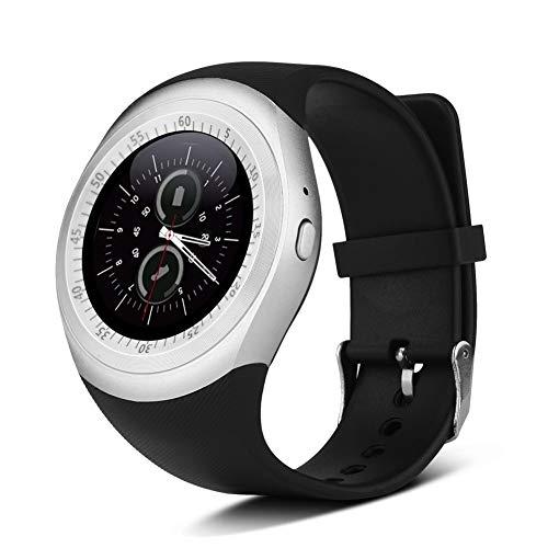 Smartwatch Smart Bluetooth Watch, Phone Mate mit Sleeping Monitor for Android/Handys/Support 2G / GSM/SIM-Karte/Support Musik und Foto/Schwarz + Silber Mode tragbar