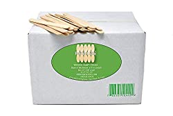 "Inexpensive waxing supplies Perfect Stix - PS-114st-1,000 4.5"" Craft Sticks/ Ice Cream Sticks/ Natural Wood - Box of 1,000ct"