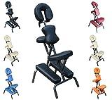 Polironeshop Siège ergonomique multifonction pour massages shiatsu, tatouage ou esthétique du dos noir