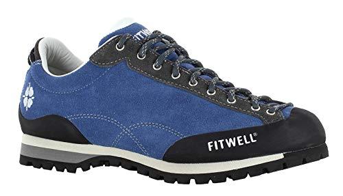 Fitwell Wanderhalbschuhe/Zustiegsschuhe Zeus mit Vibramsohle (44.5 EU, Bluette)