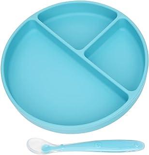 لوح شفط للأطفال - مفرش مقسم ذاتي التغذية للأطفال - بساط للأطفال الرضع من السيليكون غير القابل للانزلاق بنسبة 100% - آمن لل...