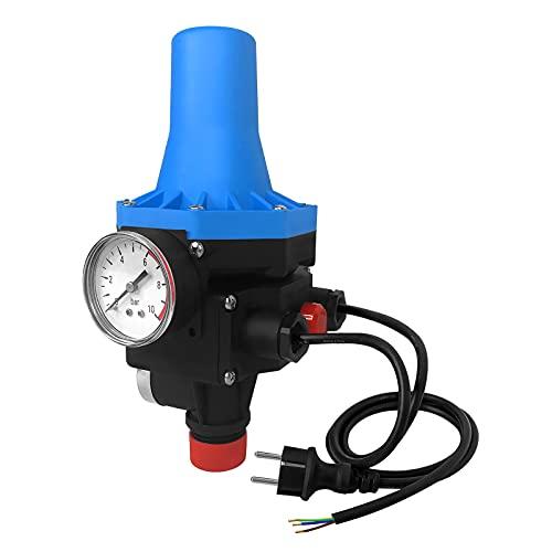 NAIZY Drukbewaker, drukschakelaar, 10 bar, pompbesturing met kabel, automatisch in- en uitschakelen, constante waterdruk voor tuin, huis, huiswatervoorziening, tip C