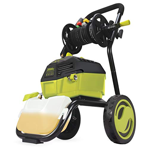 Sun Joe SPX4601 3000 PSI MAX 1.30 GPM High Performance Electric Pressure Washer, w/ 20-ft Hose Reel