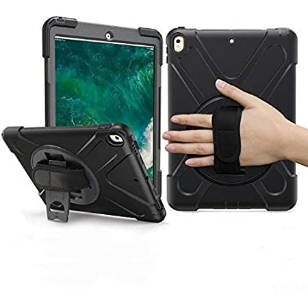 Braecn Ipad Pro 10 5 Case Heavy Duty Full Body Rugged Pc Silicone Protective Case With Portable Shoulder Strap Integrated 360 Degree Rotating Stand Wrist Strap For Ipad Pro 10 5 A1709 A1701 Case