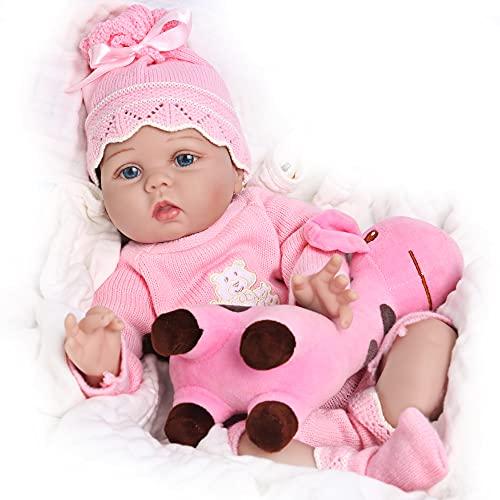CHAREX Realistic Reborn Baby Dolls 22 Inch Lifelike Newborn Baby Girl Doll Soft Silicone Rebirth Dolls That Looks Real X-mas Birthday Gift for Age 3+