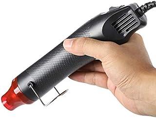 多目的ヒートガンミニ 小型軽量 熱風機 エンボスヒーター 乾燥 剥離 塗料適用 DIY手芸 乾燥・熱収縮紙装飾品 溶接 (黑)