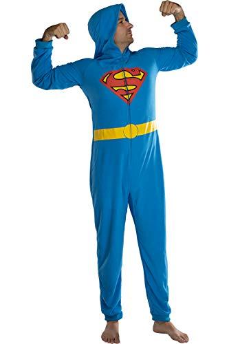 DC Comics Superman superhéroe hombre' personaje encapuchado Europea TRAJE TRAJE Pijama Footless...