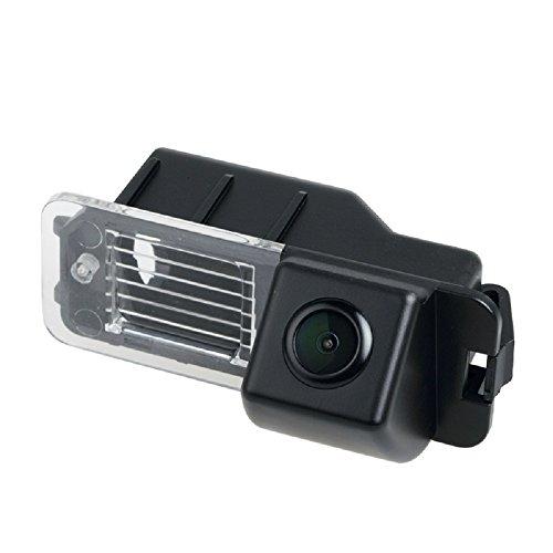 HD 720p Rückfahrkamera wasserdicht Nachtsicht Rückansicht Kamera Einparkhilfe Rückfahrsystem Kennzeichenleuchte kompatibel für Golf 6 MK6 Bora/EOS/Golf MK5 MK6 Passat B7 CC Magotan Polo Beetle Bora