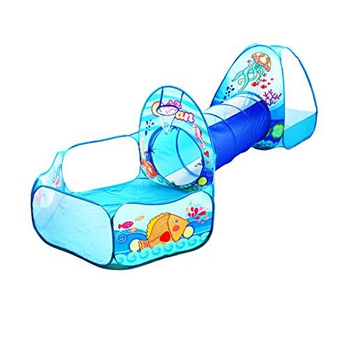 Z-Tapestry Z-w-Dong Salas de Juegos Interior for niños, bebés túnel niños del Parque de Atracciones doméstica Ball Pool + Tienda + túnel Plegable 3 en 1 Tienda Tiendas de campaña