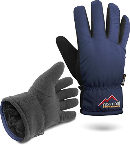 normani Herren Winter Thermo Handschuhe mit Fleece extrem hoher TOG-Wert 9.8 bis -10°C Farbe Navy Größe XXL/3XL