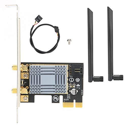 Cuifati Antenas de Tarjeta de Red inalámbrica AR9220 Interfaz PCI para computadora de Escritorio Compatible con computadoras con Interfaz PCI-E Que mejoran la Estabilidad de Wi-Fi y el Rango de