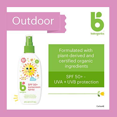 BabyGanics - El mineral del aerosol de Sunscreen basó el SPF 50 sin perfume - 6 oz.