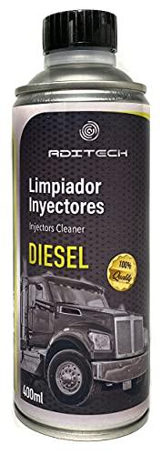 ADITECH Limpiador de Inyectores para Todo Tipo de Coches a Base de Combustible Diesel. Mejora el Rendimiento del Motor al Eliminar residuos, impurezas y Gotas de Agua del Sistema de combustión.